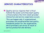 service characteristics17