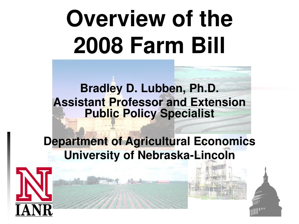 overview of the 2008 farm bill l.