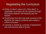 negotiating the curriculum7