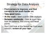 strategy for data analysis