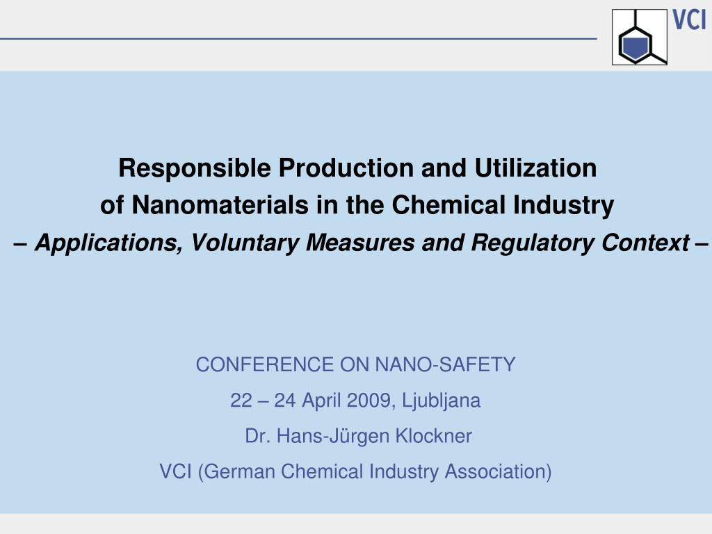 PPT - CONFERENCE ON NANO-SAFETY 22 – 24 April 2009, Ljubljana Dr