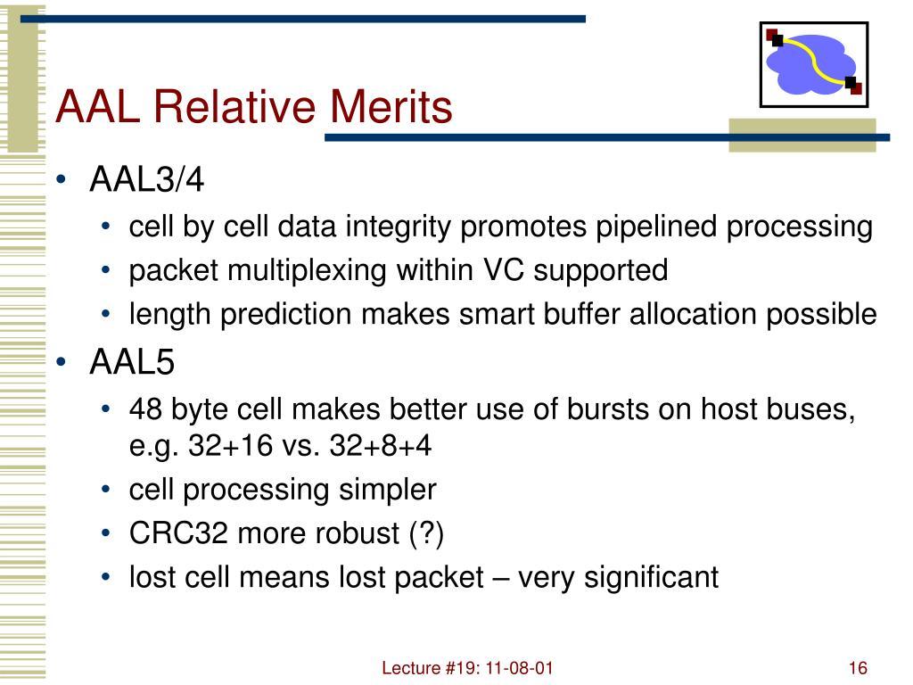AAL Relative Merits