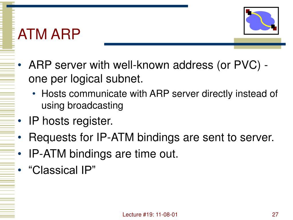 ATM ARP