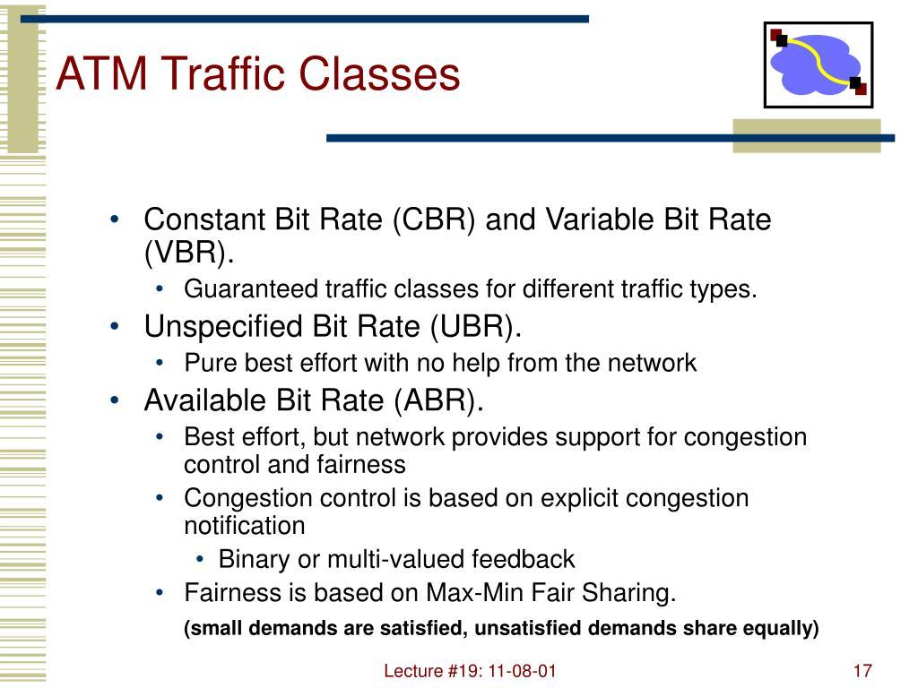 ATM Traffic Classes