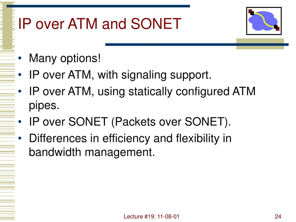 IP over ATM and SONET