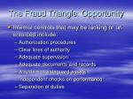 the fraud triangle opportunity13