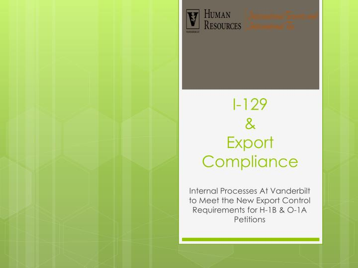 i 129 export compliance n.