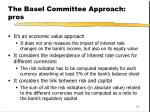 the basel committee approach pros