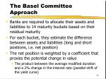 the basel committee approach