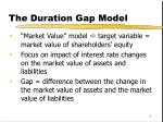 the duration gap model