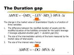 the duration gap11