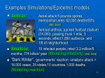 examples simulations epidemic models