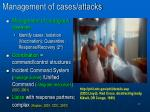 management of cases attacks