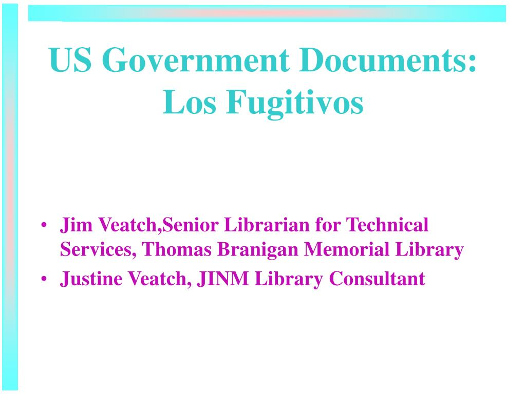 us government documents los fugitivos l.