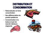 distribution et consommation
