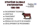 strat gie globale d intervention 1996 1999