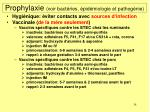 prophylaxie voir bact ries pid miologie et pathog nie58