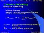 b baseline methodology11