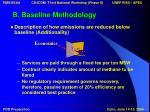b baseline methodology14