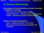b baseline methodology15
