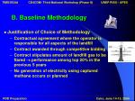 b baseline methodology9