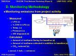 d monitoring methodology