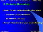 d monitoring methodology18
