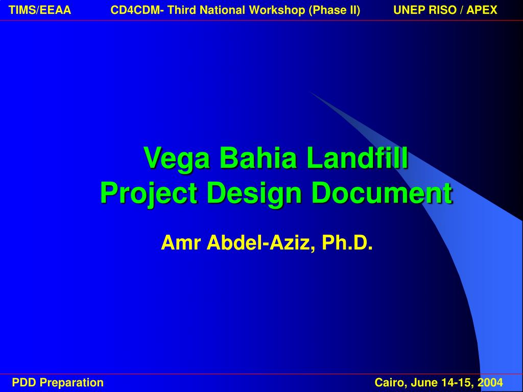 vega bahia landfill project design document l.