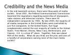 credibility and the news media
