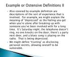 example or ostensive definitions ii