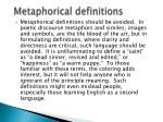 metaphorical definitions