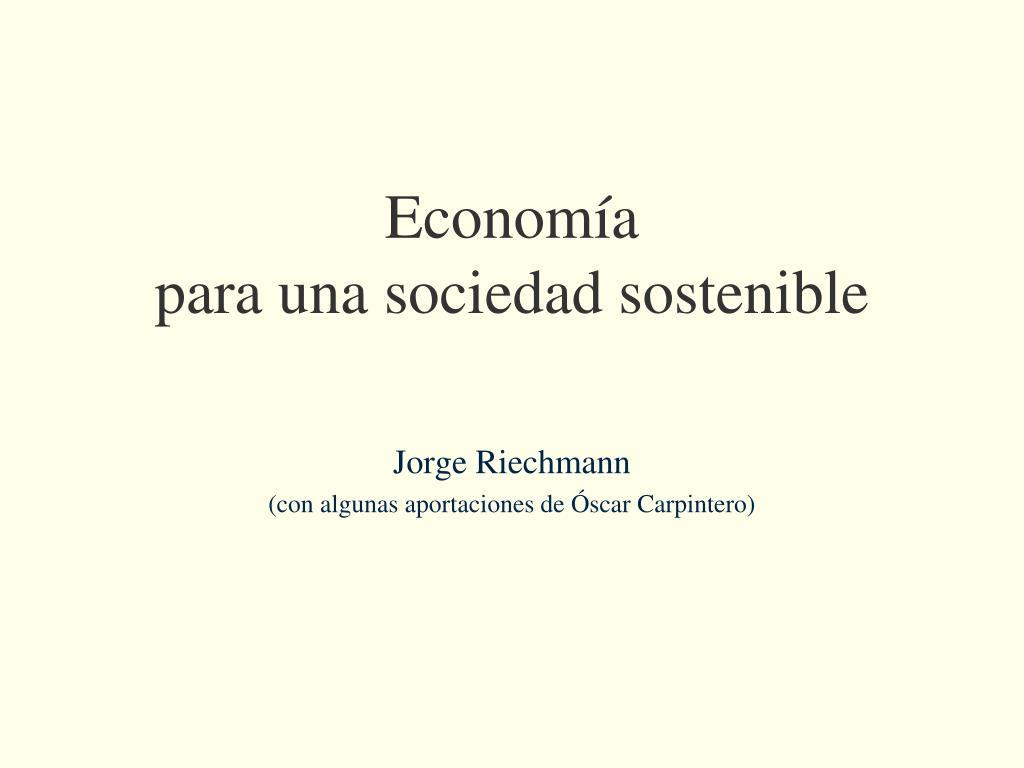 econom a para una sociedad sostenible l.