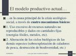 el modelo productivo actual