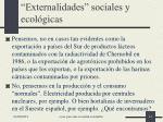 externalidades sociales y ecol gicas