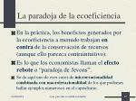 la paradoja de la ecoeficiencia