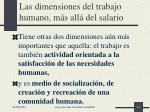 las dimensiones del trabajo humano m s all del salario