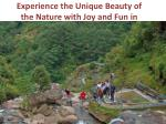 experience the unique beauty of the nature with joy and fun in darjeeling
