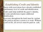 establishing credit and identity