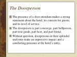 the doorperson