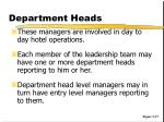 department heads