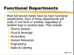 functional departments