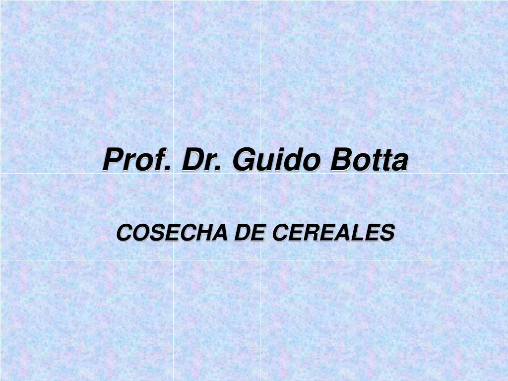 prof dr guido botta l.