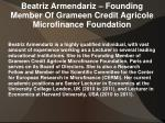 beatriz armendariz founding member of grameen credit agricole microfinance foundation