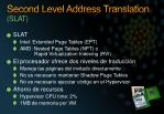 second level address translation slat