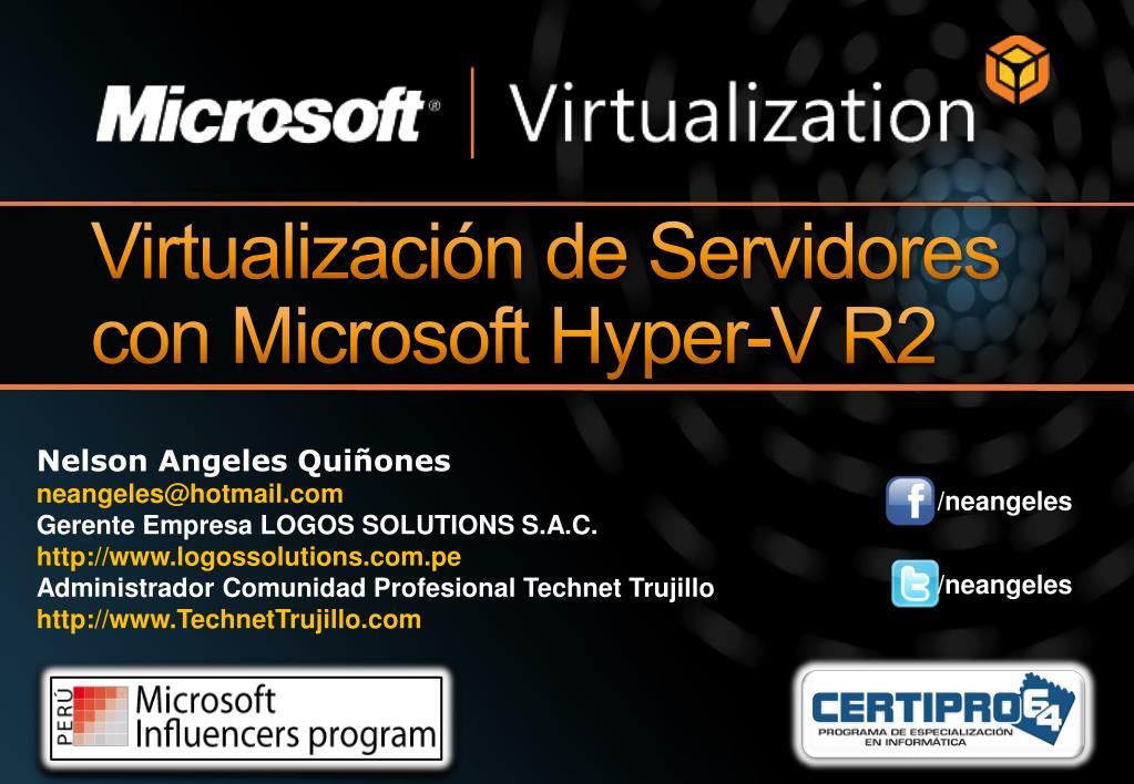 virtualizaci n de servidores con microsoft hyper v r2 l.
