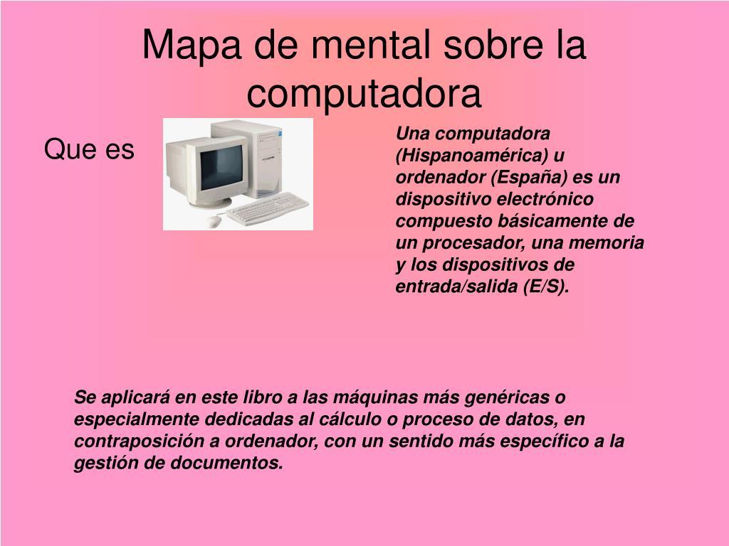 mapa de mental sobre la computadora l.
