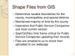 shape files from gis
