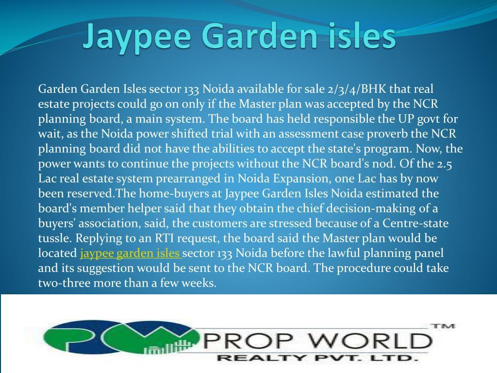 jaypee garden isles l.