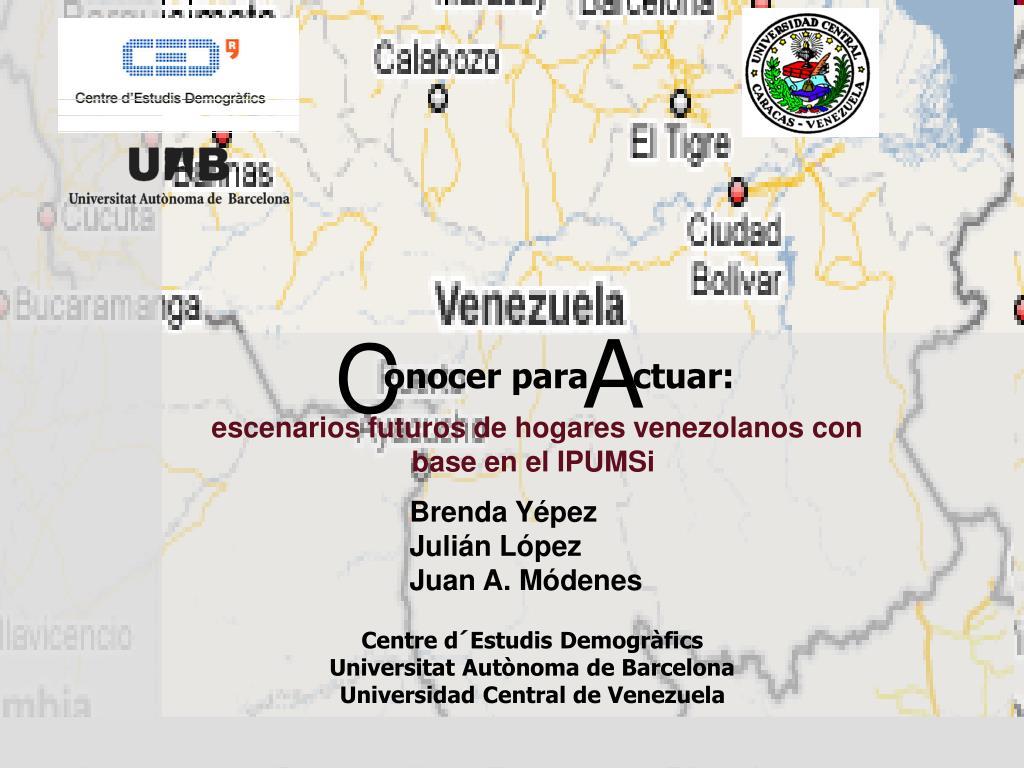 escenarios futuros de hogares venezolanos con base en el ipumsi l.