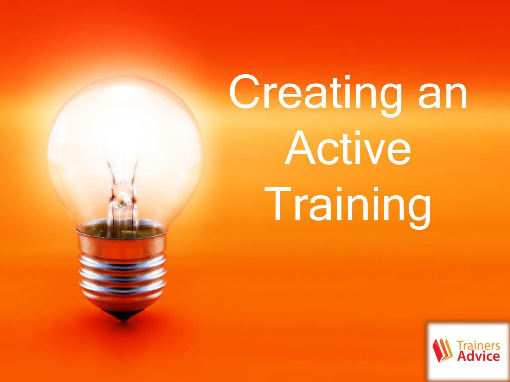 creating an active training l.